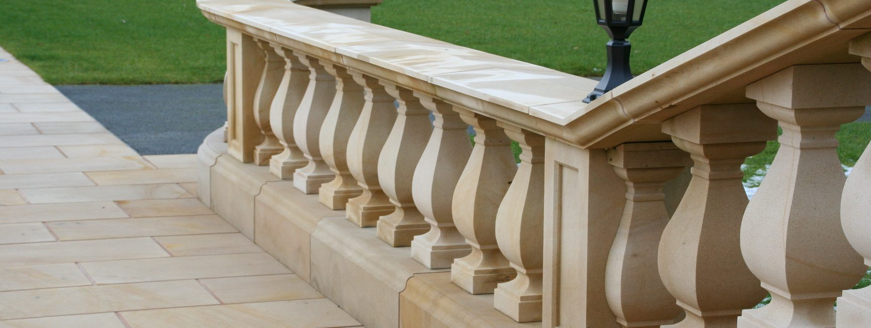 Sandstone balusters by Cumbrian Stone