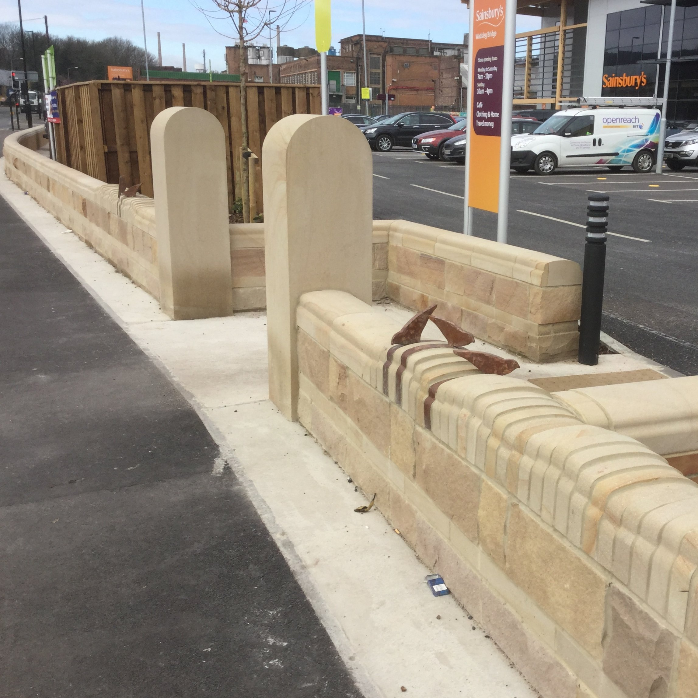 Buff Sandstone Coping Stones by Cumbrian Stone