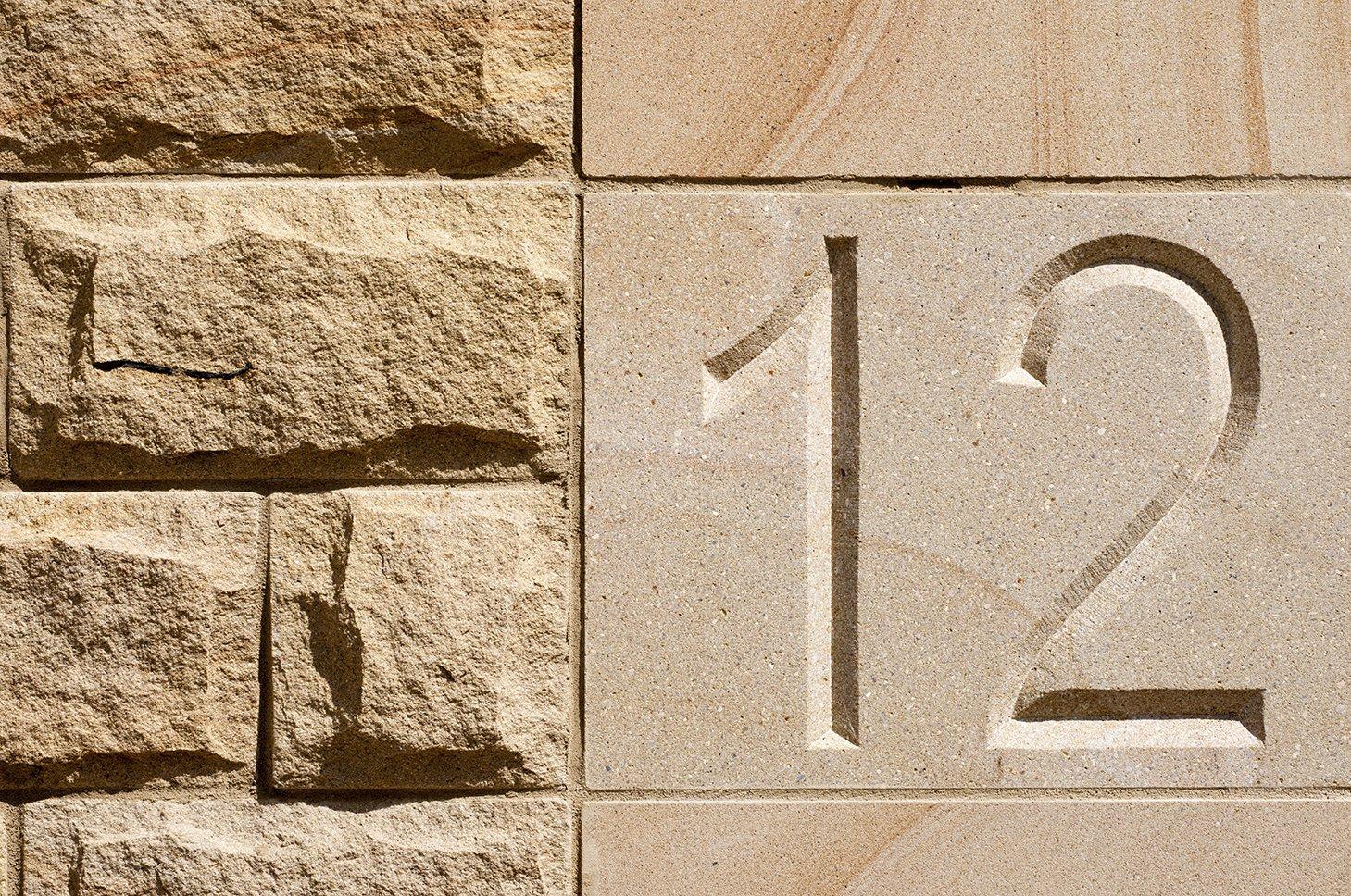 Sandstone plaque