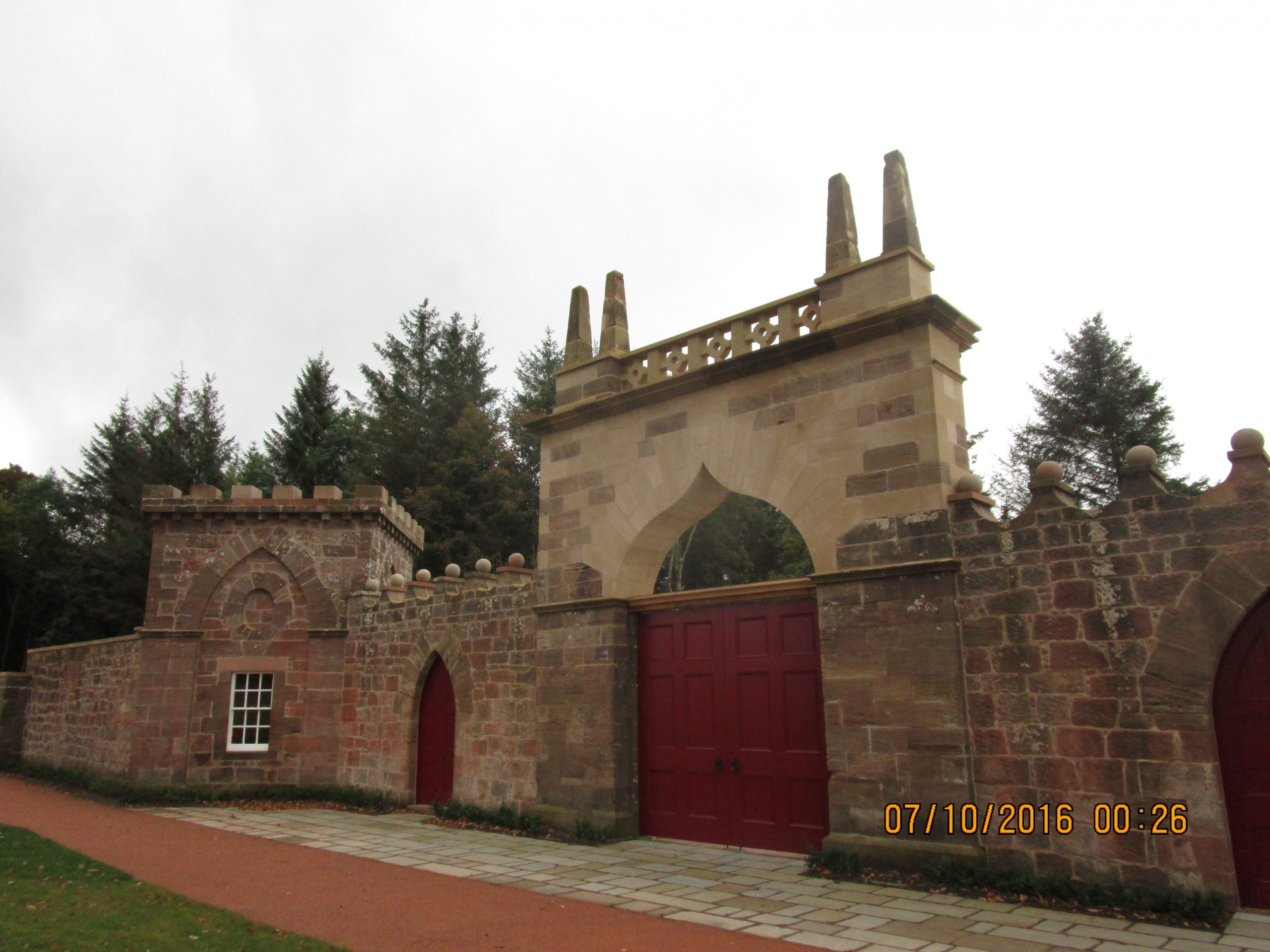 Sandstone Arch Restoration Dumfries House