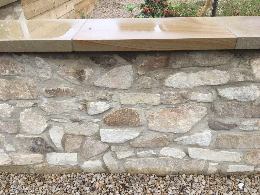 Bagged Stone Walling