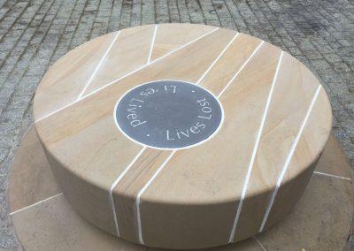 Buff Sandstone Memorial Seat