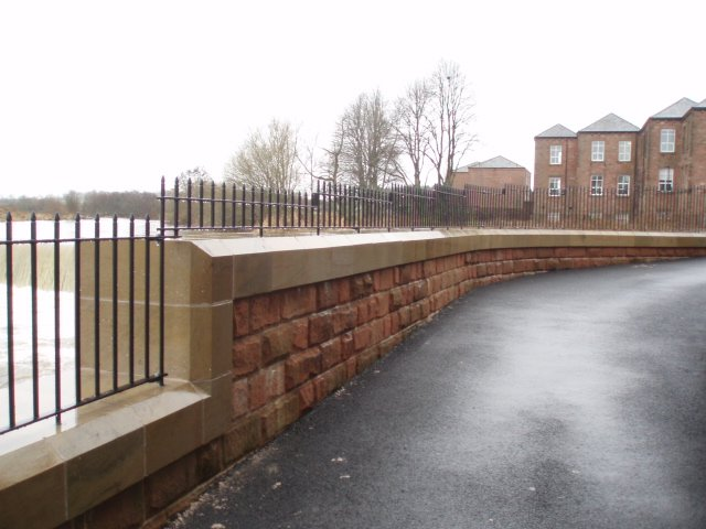 Sandstone Flood Defence Walls by Cumbrian Stone