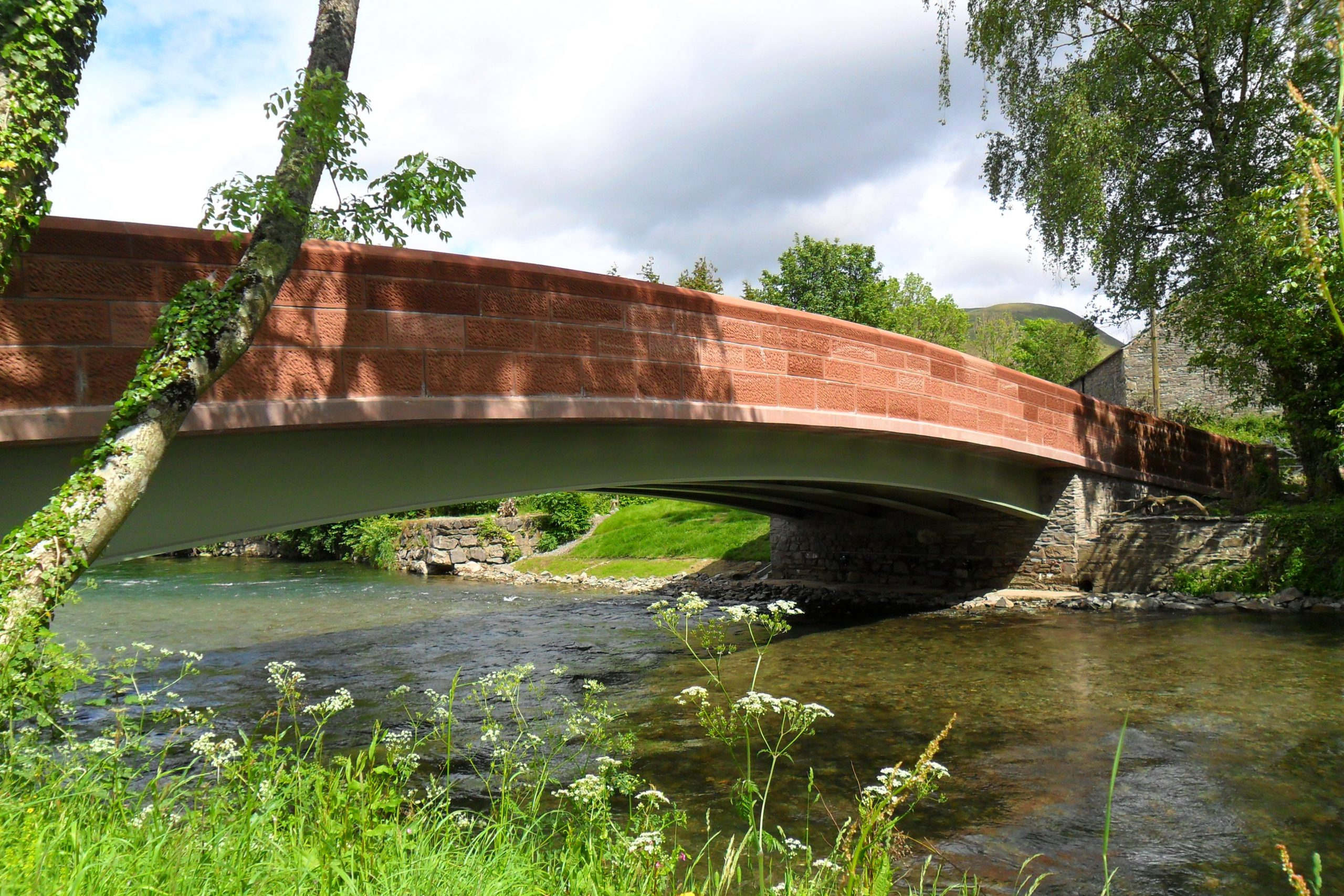 Red Sandstone bridge by Cumbrian Stone
