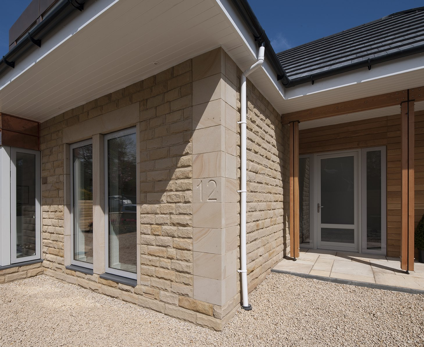 Longridge Sandstone Walling and Sandstone Quoins by Cumbrian Stone