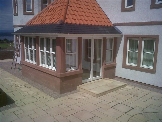 St Bees Sandstone Porch by Cumbrian Stone