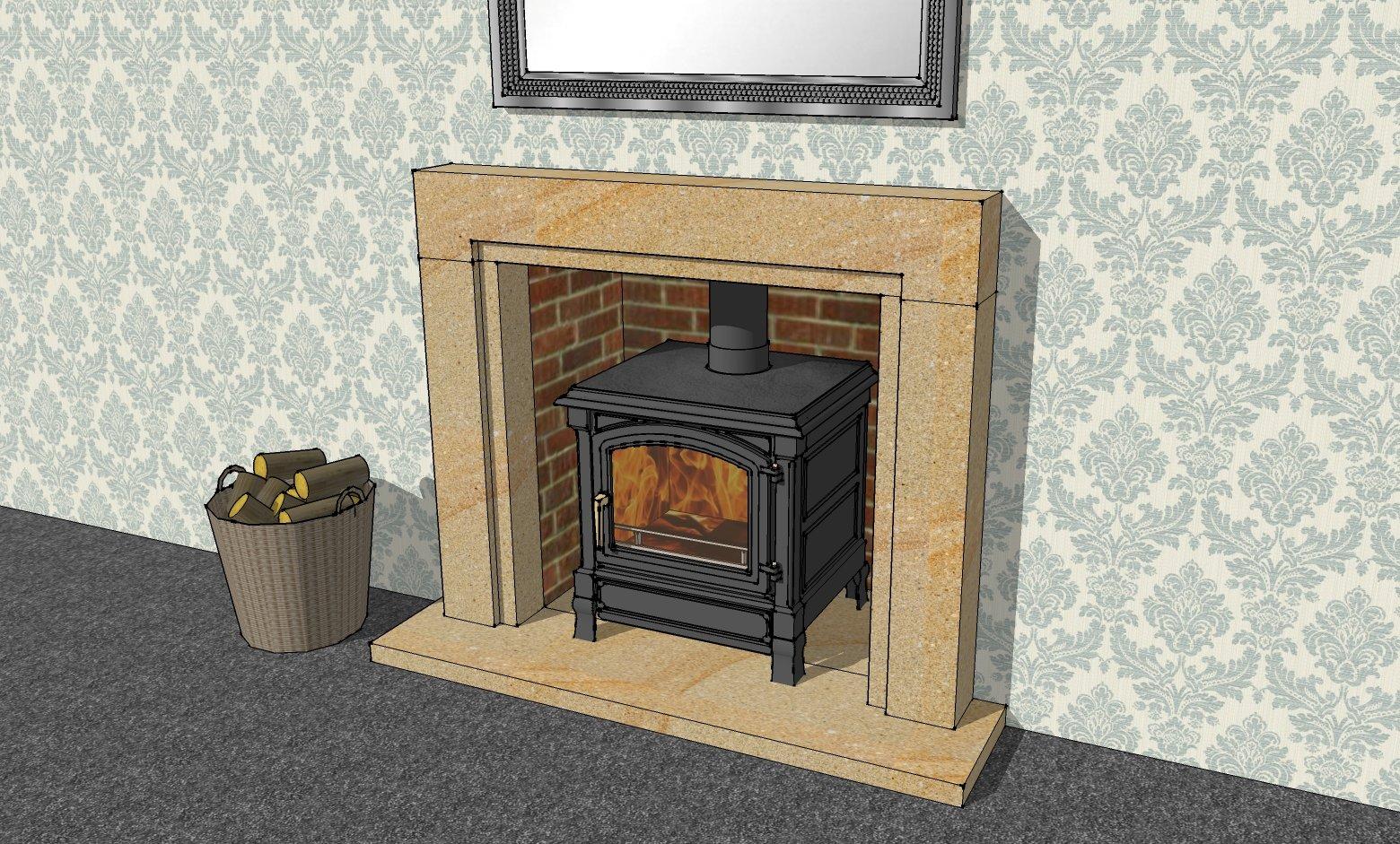 Sandstone Fire Surround Model by Cumbrian Stone