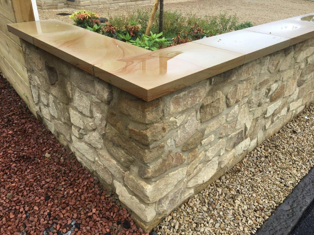Bagged Walling and Sandstone Copings by Cumbrian Stone