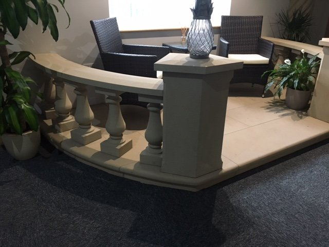 Buff Sandstone balusters by Cumbrian Stone